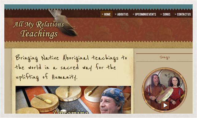 All My Relations Teachings site web crée par le studio imajOzé