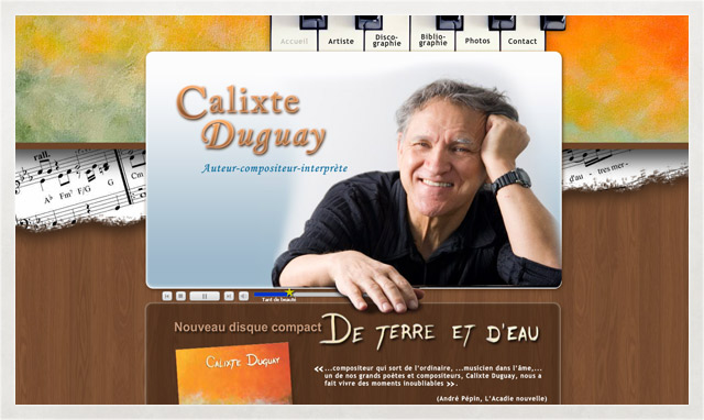 Site internet de Calixte Duguay