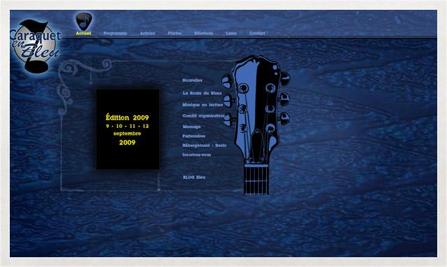 Site internet de Caraquet en Bleu