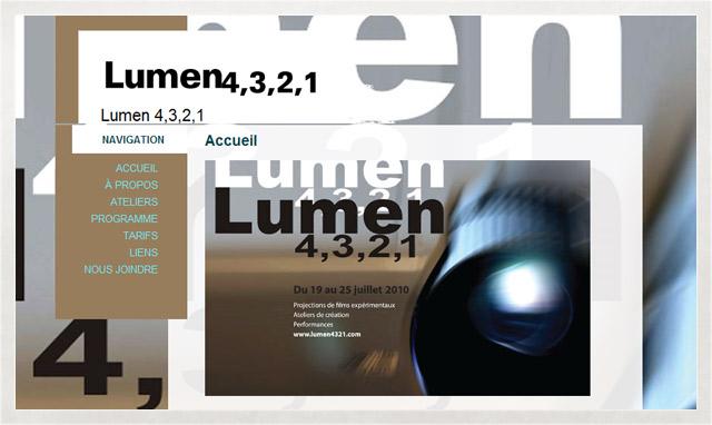 Site internet de Lumen 4321
