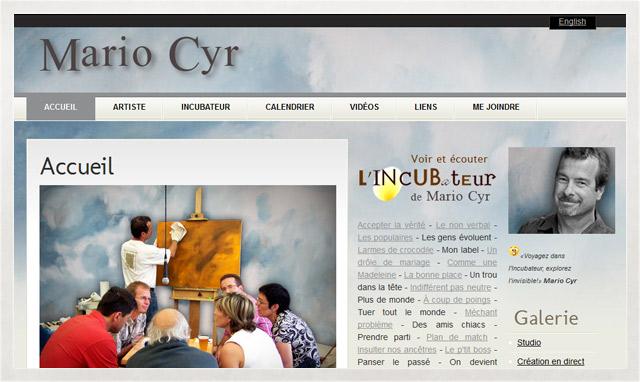 Site internet de Mario Cyr
