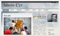 Miniature du site internet de Mario Cyr