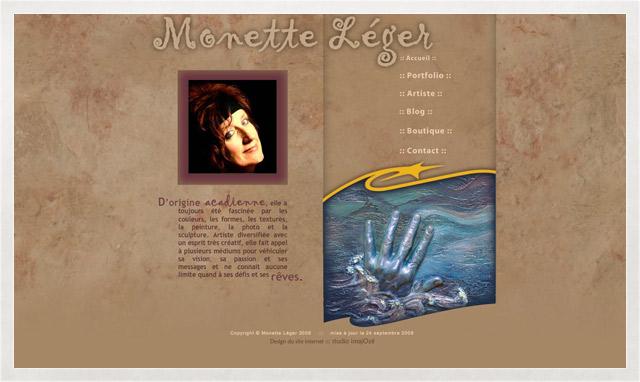 Site internet de Monette Léger