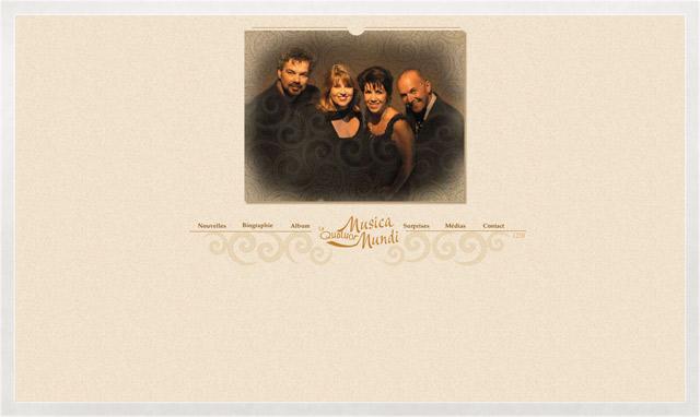 Site internet du Quatuor Musica Mundi