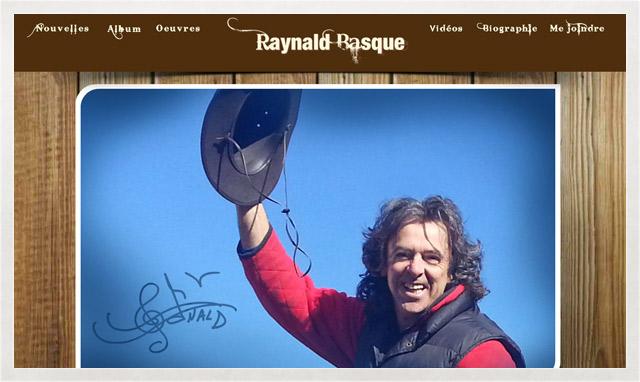 Site internet de Raynald Basque