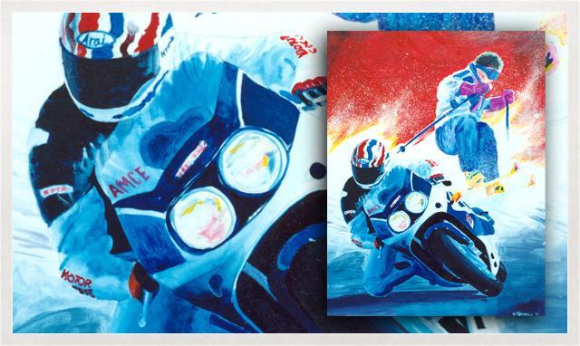 Illustration de Moto Ski