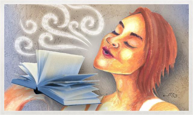 Illustration de l`affiche du Salon du livre de la Péninsule acadienne 2009