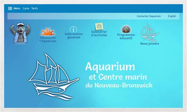 Image du site web de l'Aquarium et Centre marin du Nouveau-Brunswick