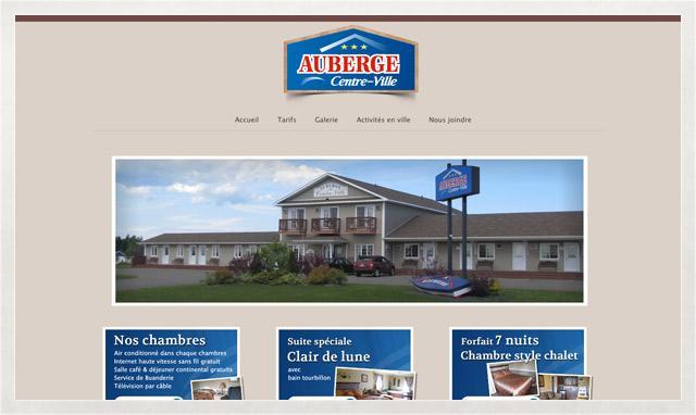 Site web de l'Auberge Centre-Ville
