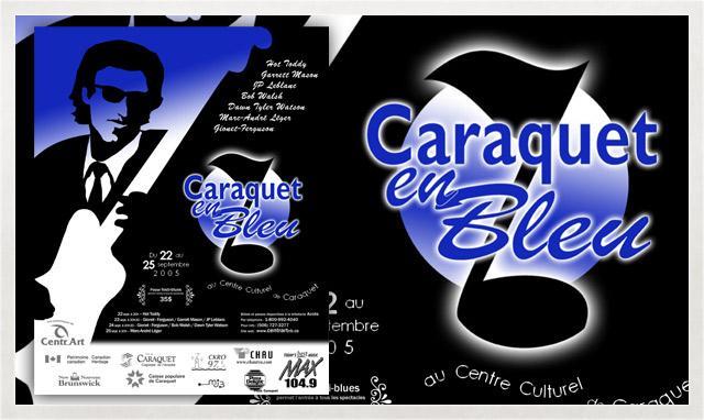 Affiche de Caraquet en Bleu