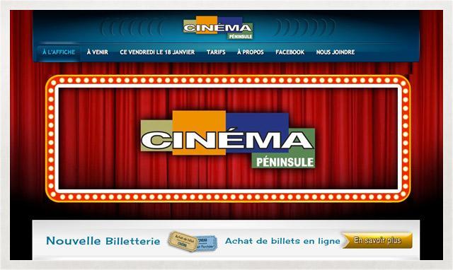 Site web du Cinéma péninsule fait par le studio imajOzé