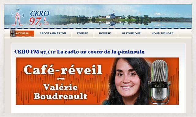 CKRO, site web par le studio imajOzé
