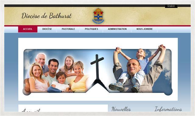 Site Internet du Diocèse de Bathurst par le studio imajOzé