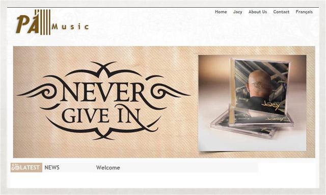 Site internet de P.A. Music et Jacy