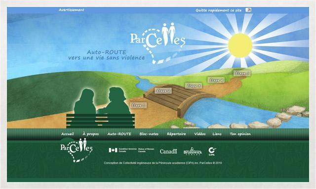 Image du site web de Parcelles