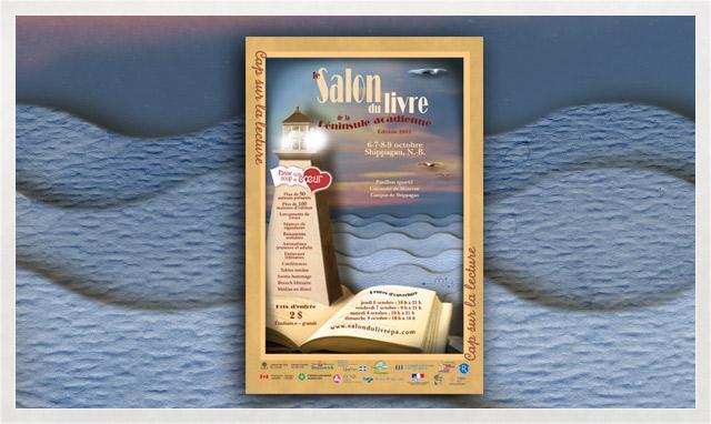 Affiche du Salon du livre de la Péninsule acadienne 2005
