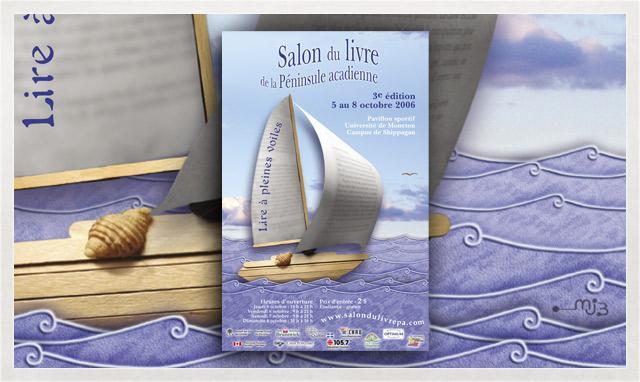 Affiche du Salon du livre de la Péninsule acadienne 2006