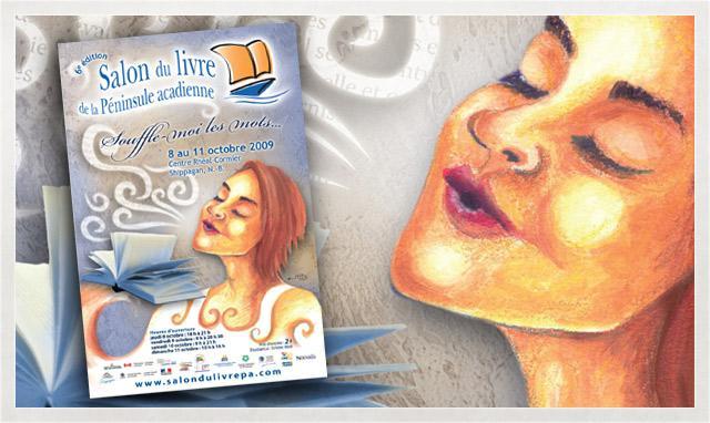 Affiche du Salon du livre de la Péninsule acadienne 2009