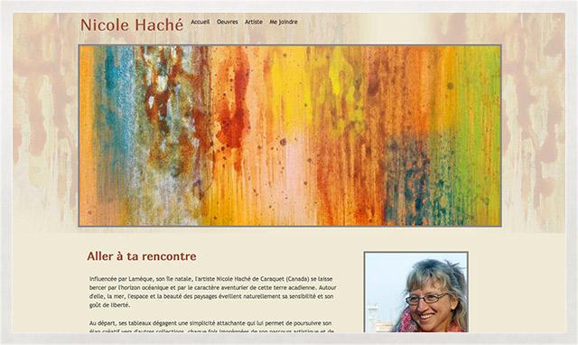 Le désigne et la programmation du site internet de Nicole Haché par le studio im